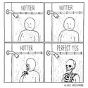 hot shower in the winter