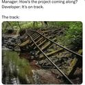 it is on track