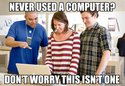 never used a computer