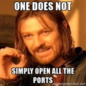 open all port