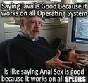 saying java is good