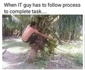 when a process has to be followed