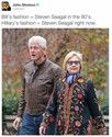 bill and hillary fashion