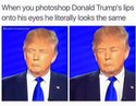 trump lips eyes