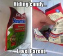 hiding candy-level parent