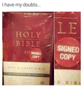 bible signed copy