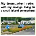 living on a small island somewhere
