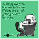 getting paid to be alone
