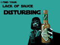 i find lack of sauce disturbing