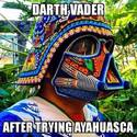 darth vader after trying ayahuasca