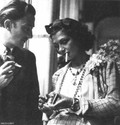 salvador dali and coco chanel sharing a smoke