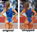 original vs shopped brasilian ass