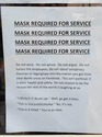 mask required for service