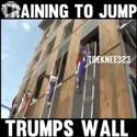 training to jump over trumps wall