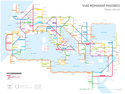 roman roads mtro map big Rome III